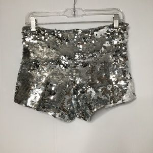 Silver Sequins Shorts